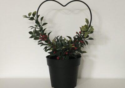 Herz-Blume, Deko